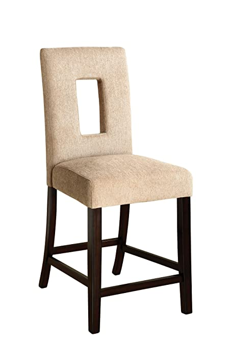 Delicieux Moss Espresso Upholstered Counter Chairs (set Of 2)