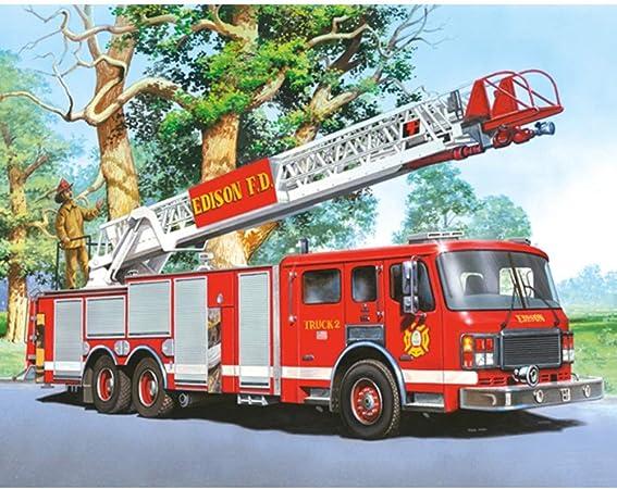 Diy Full Diamond Peinture Grand Camion De Pompiers Diamant