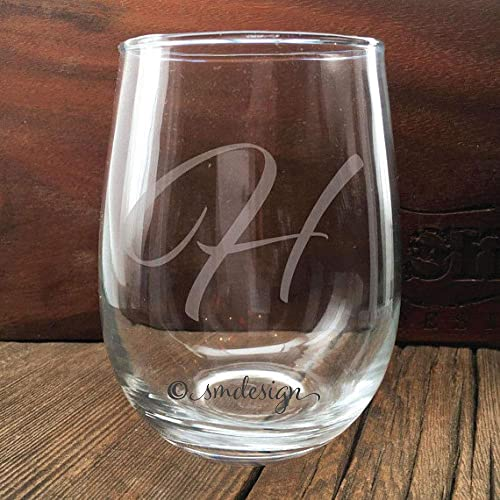 Amazon Personalized Initial Wine Glass Gift Idea For The