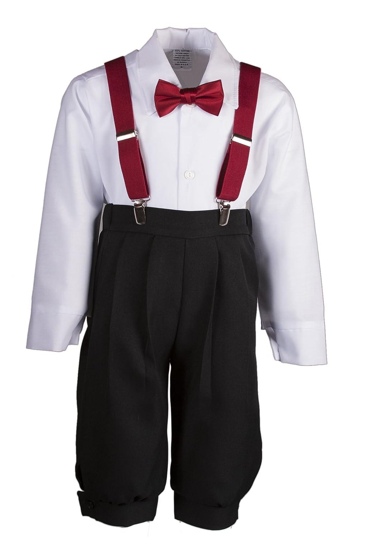 7eabc82b19e Amazon.com  Boys Black Knickers Set Pageboy Cap Apple Red Suspenders   Bow  Tie  Clothing