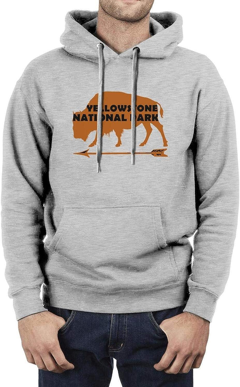 Mens Fun Long Sleeve Hoodies Yellowstone National Park Hoodies Sweatshirt