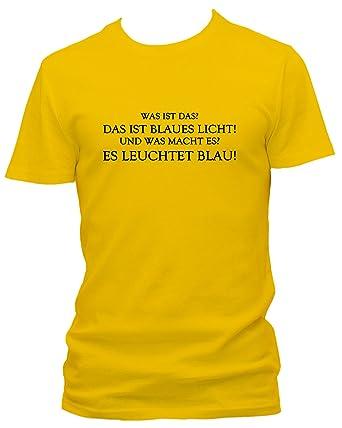 Was Ist Das Blaues Licht Rambo Fun Spruch Fun Party Sprüche T Shirt