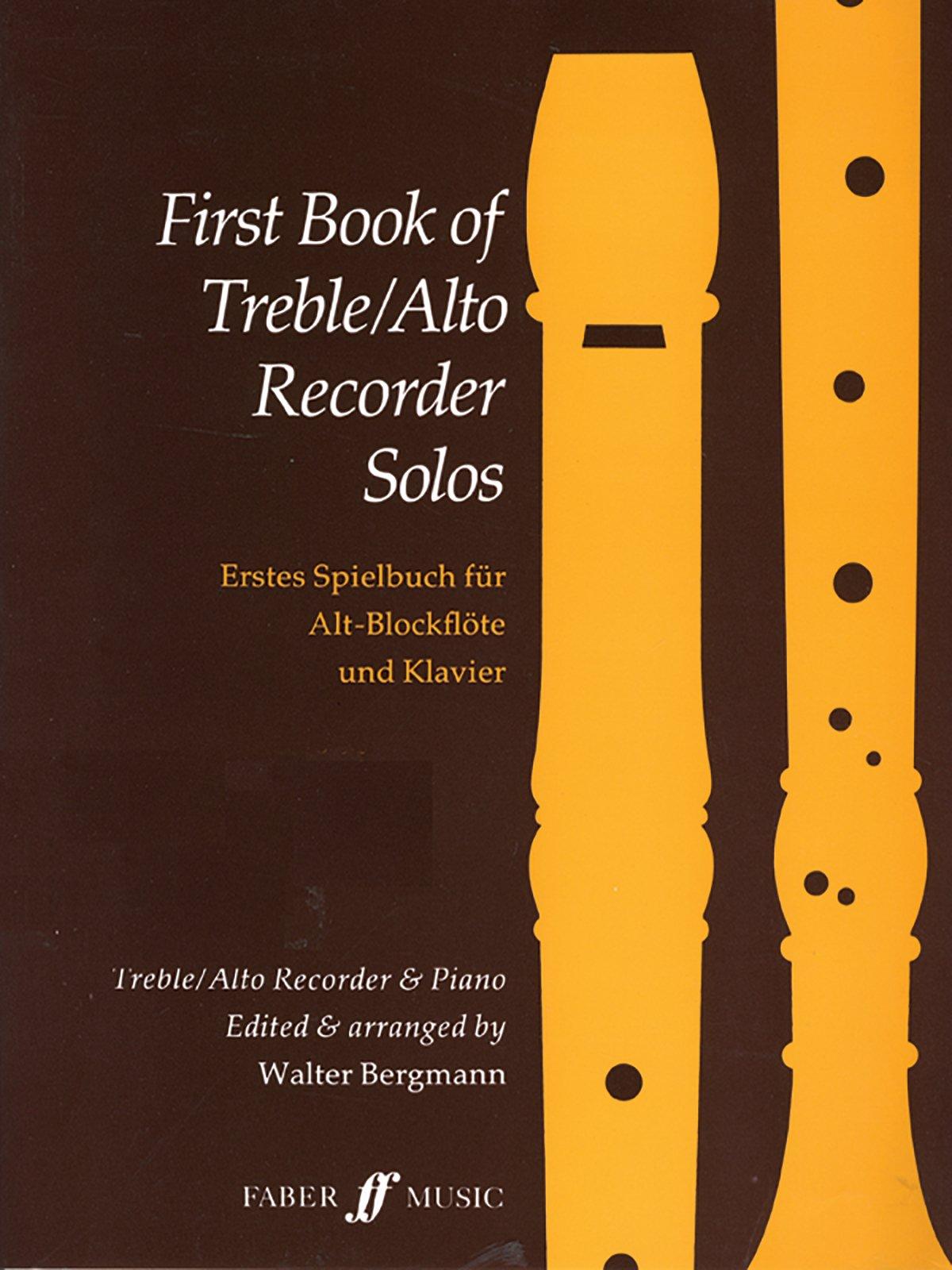 First Book of Treble / Alto Recorder Solos (Faber Edition)