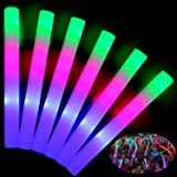 TURNMEON 32 Pcs Giant 16 Inch Foam Glow Sticks Party Supplies Favors, 3 Modes Color Changing Led Light Sticks Glow Batons Glo