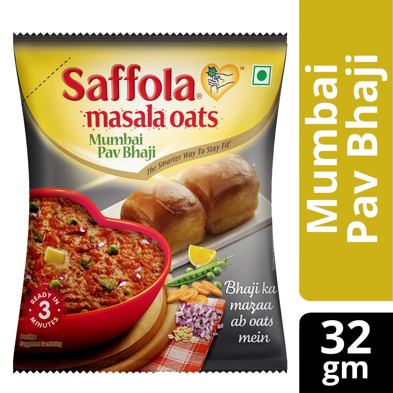 Saffola Masala Oats Mumbai Pav Bhaji, 32 gramos (1,12 oz ...