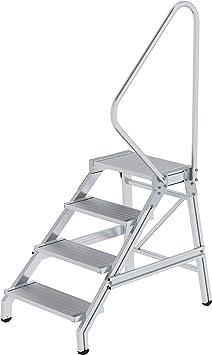 starr 3 Stufen Arbeitsh/öhe bis ca Aluminium-Montagetritt mit Handlauf 2,60 m