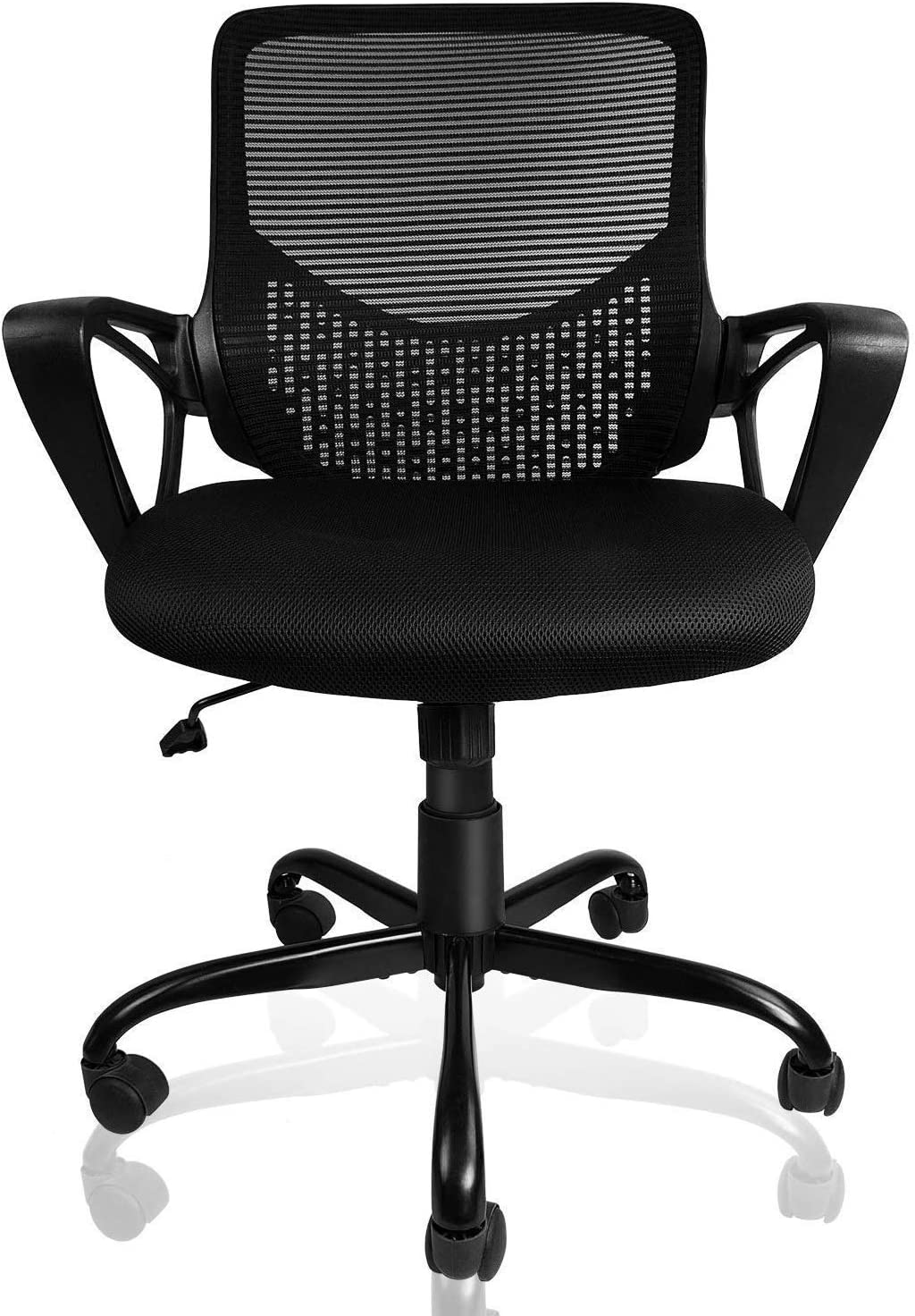 Smugdesk Ergonomic Lumbar Support Office Chair Computer Desk Chair with Armrests, Black