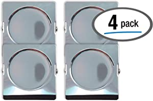 Extra Large Magnetic Metal Clips, 4 Pack, by Better Office Products, Heavy Duty Stainless Steel, XL, 2.2 Inch, Square, 4 Pack