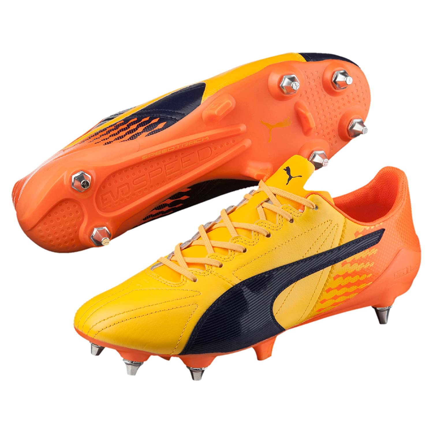 Puma evoSPEED 17 SL K Lth Mx SG, SG, SG, Größe 8, Farbe ULTRA Gelb-Peacoat-Orange Clown Fish 26a5f4