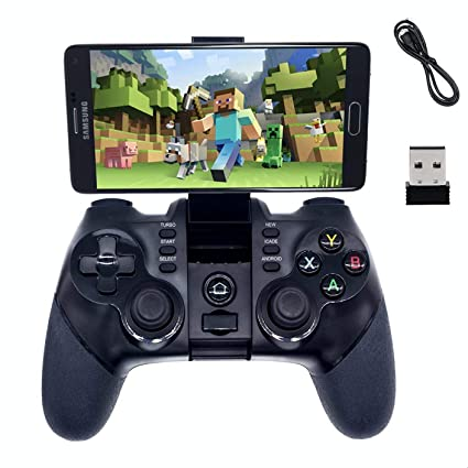 2 4G Wireless Bluetooth Android Game Controller,BRHE Mobile Gaming  Controller Wired Gamepad for Android Phone, PS3, Tablet, PC Windows 7/8/10,