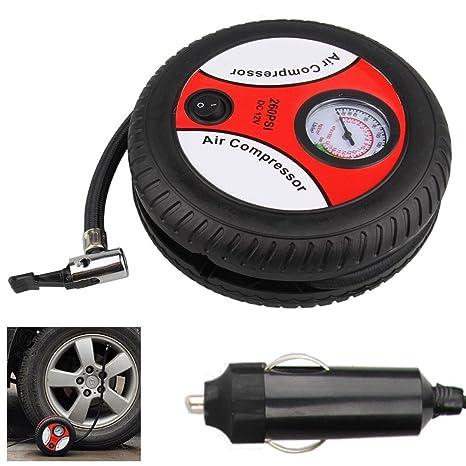 Millya 12 V portátil Mini compresor de aire inflador de neumáticos para automóviles, locomotora,