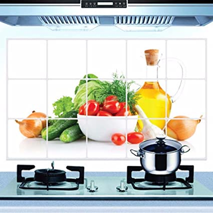 Buy Binmer Tm Kitchen Oilproof Removable Wall Stickers Aluminum Foil Room Art Mural Home Decor A Online At Low Prices In India Amazon In
