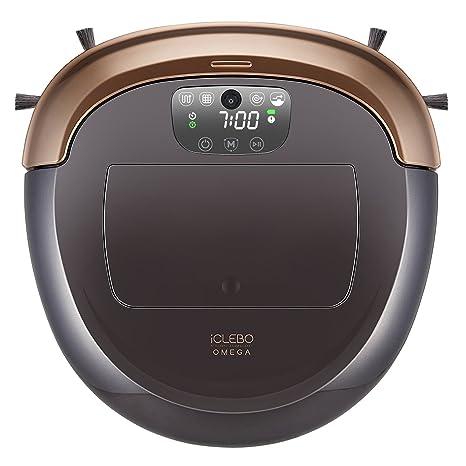 iClebo Omega Robot Aspirador inteligente modo de Turbo, modo escalado regulable, trapeado húmedo y