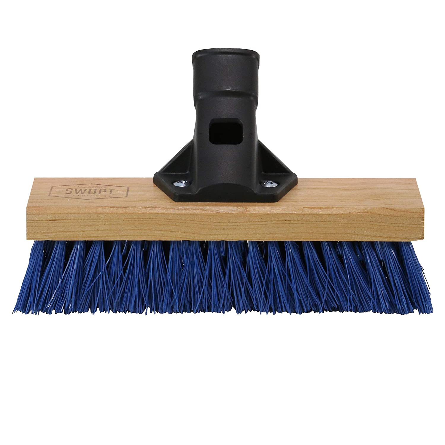 SWOPT Premium Multi-Surface Angle Broom Head Interchangeable with Other SWOPT Products for More Efficient Cleaning and Storage 5119C6 Handle Sold Separately Angled Broom for Indoor and Outdoor Use Head Only