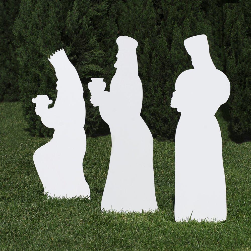 Outdoor Nativity Store Outdoor Nativity Set Add-on - Three Wisemen (Standard, White)