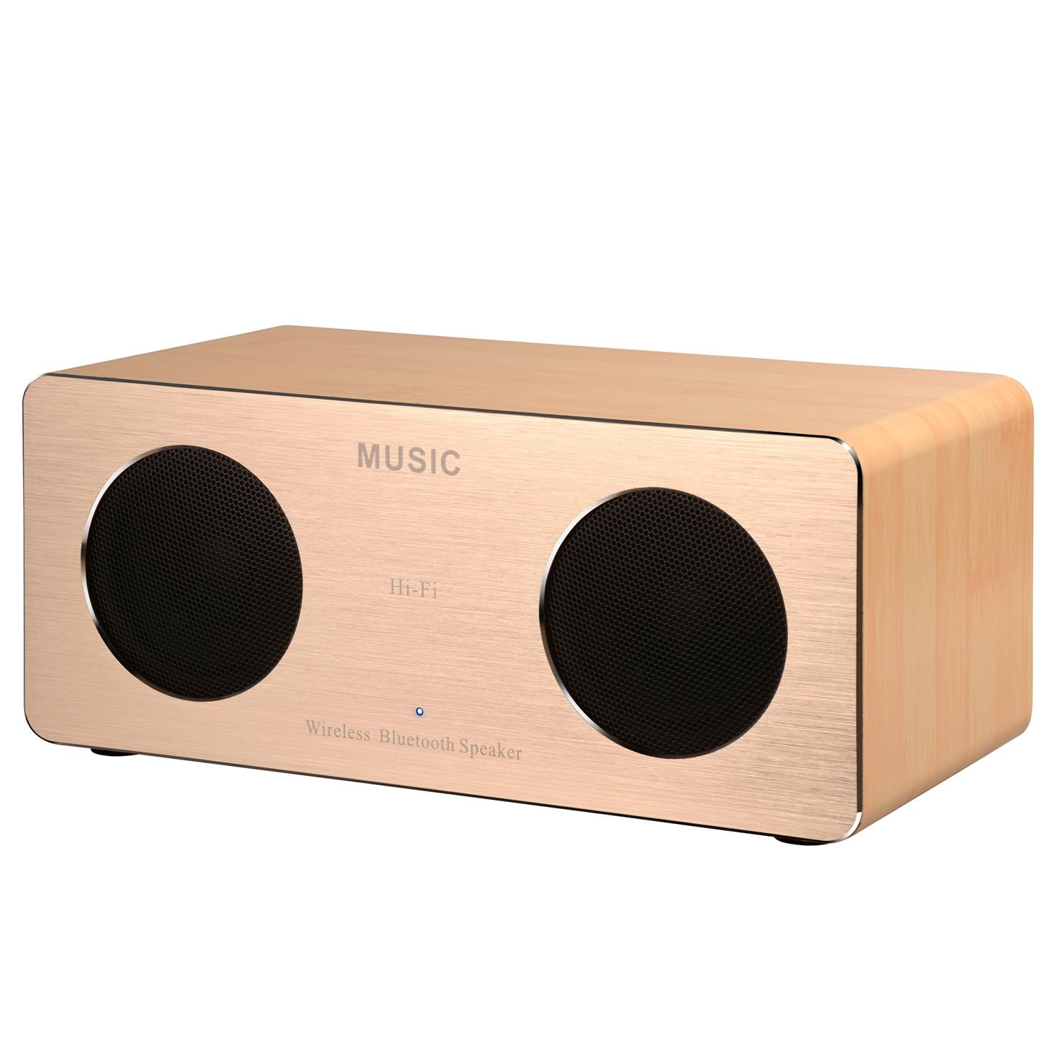 Portable Bluetooth Speakers, DYJ Mini Wood Wireless Speaker with Super Bass, 10W Output-Dual 5W Drivers, 10 Hours Play Time for iPhone 7/6S/6Plus/5S iPad Samsung S8 Tablet PC