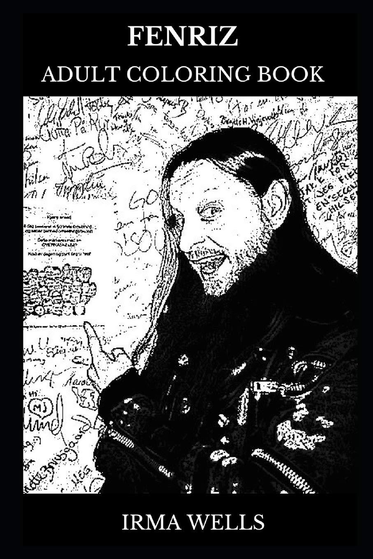 Fenriz Adult Coloring Book Darkthrone Founder And Norwegian