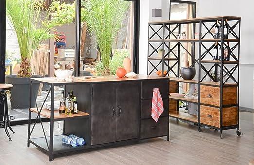 Kraft isla central de cocina Industrial mueble House: Amazon ...