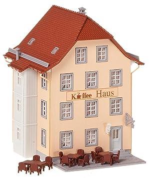 Faller - Edificio de negocios y oficinas de modelismo ferroviario N (N FA ALTSTADT-CAFE F232332): Amazon.es: Juguetes y juegos