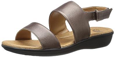 CLARKS Women's Manilla Penna Dress Sandal, Pewter, ...