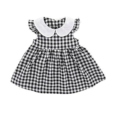 deeb4c4f1ba2 Amazon.com  Baby Girl Dress Toddler Girls Clothes Summer Plaid ...