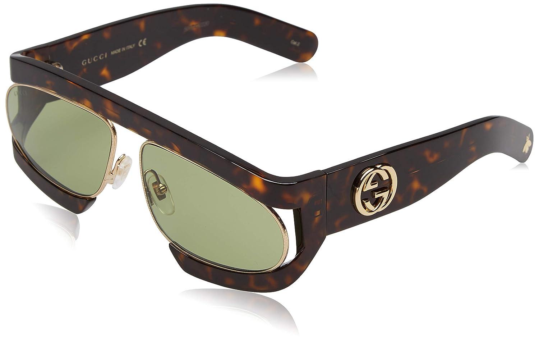 Gucci GG0233S 002, Gafas de sol para Mujer, Marrón (2/Green ...
