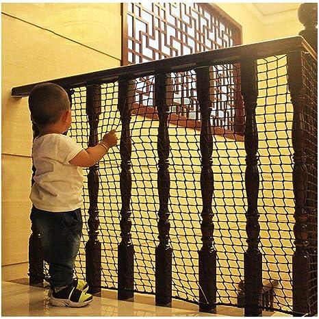 Qingjie Red de protecci/ón de Nylon Blanca Protector de Malla para Patio con barandilla de balc/ón para Seguridad de beb/és//ni/ños//Mascotas Red Segura para escaleras de ni/ños
