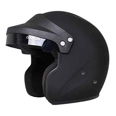 Conquer Snell SA2015 Approved Open Face Racing Helmet: Automotive
