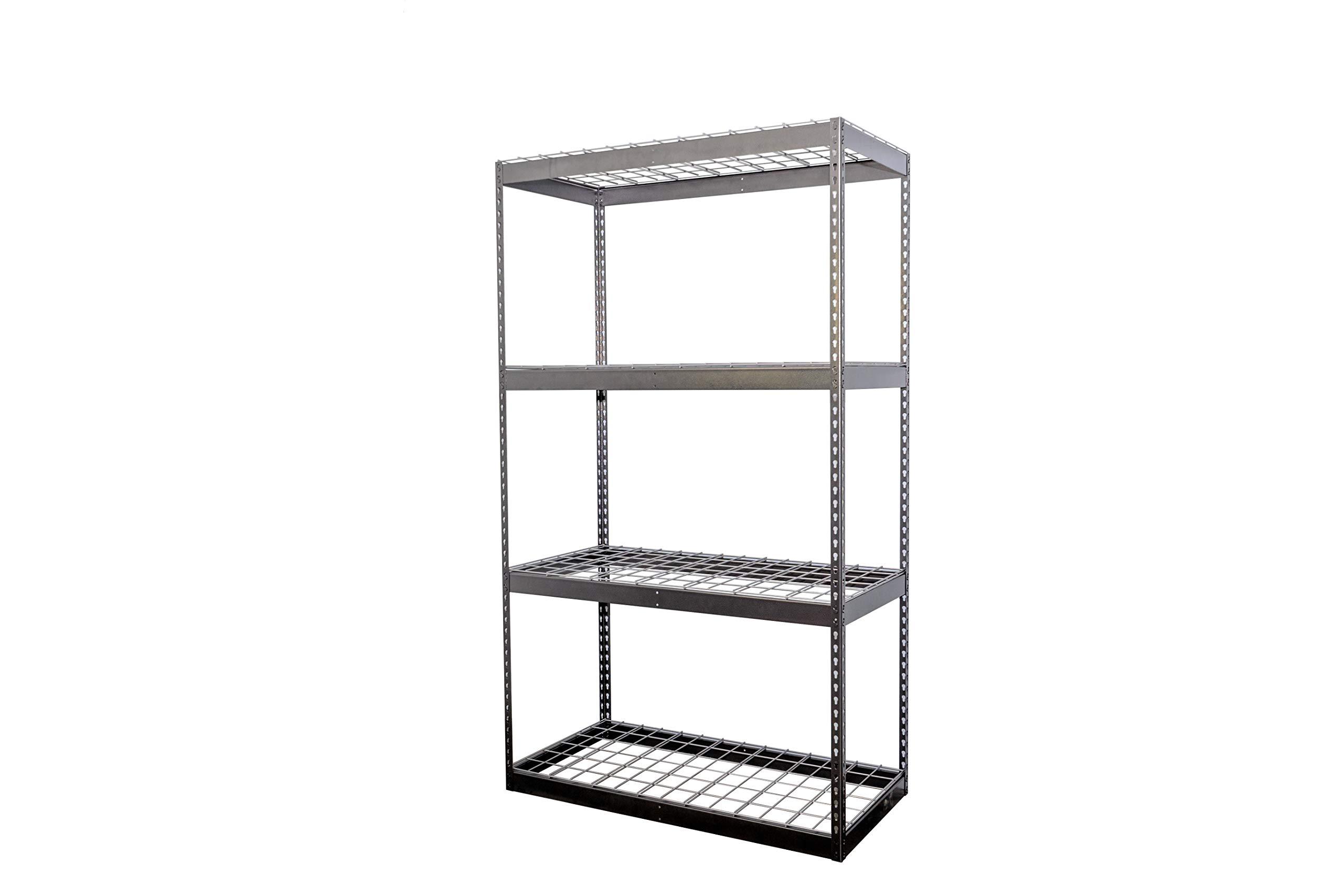 SafeRacks Garage Storage Rack - Hammertone | Steel Shelving Unit | 2'D x 4'W x 7'T by SafeRacks