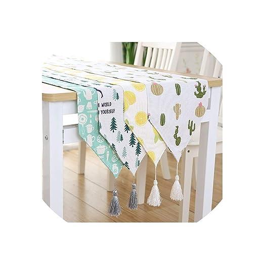 First Ring-Table Runner Camino de Mesa de algodón y Lino, diseño ...