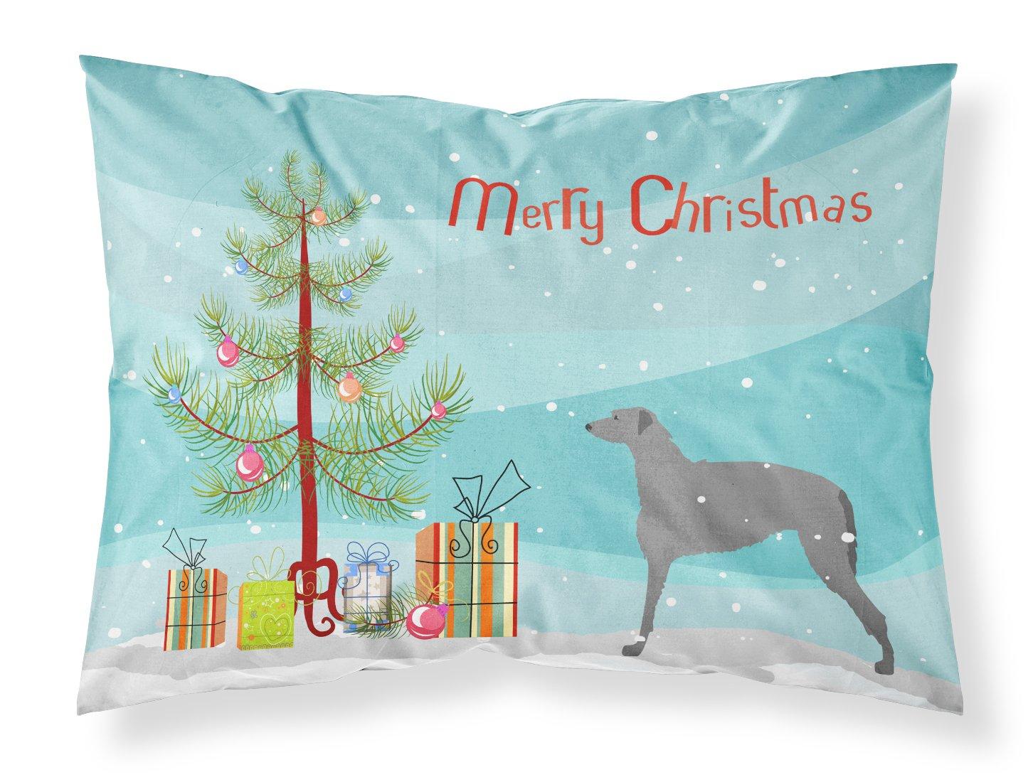 Carolines Treasures Chinese Crested Merry Christmas Tree Fabric Standard Pillowcase BB2961PILLOWCASE,