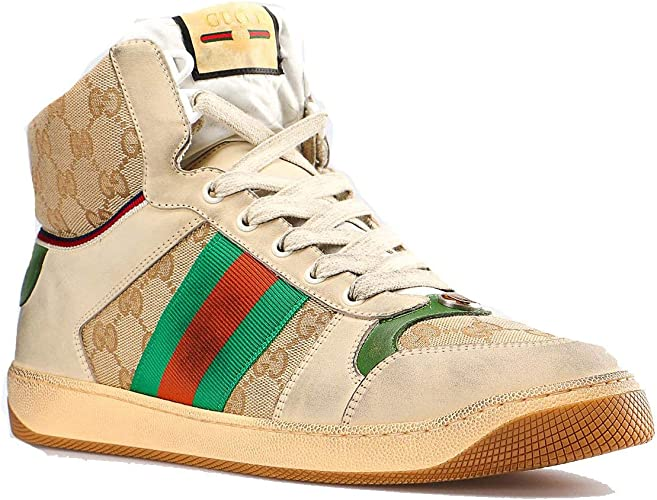 Amazon.com GUCCI Men\u0027s GG Screener Leather high,top Sneaker
