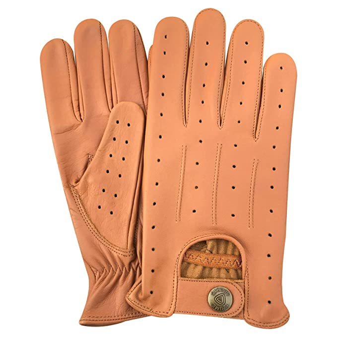 1a5a56844de50 Image Unavailable. Image not available for. Color: New* Top Quality Real  Soft Leather Men's Driving Gloves ...