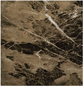EZ Faux DÉCOR Self-Adhesive Waterproof Marble/Granite Realistic Look Counter top Instant Update Contact Paper Dark Marble (36 inches x 240 inches)
