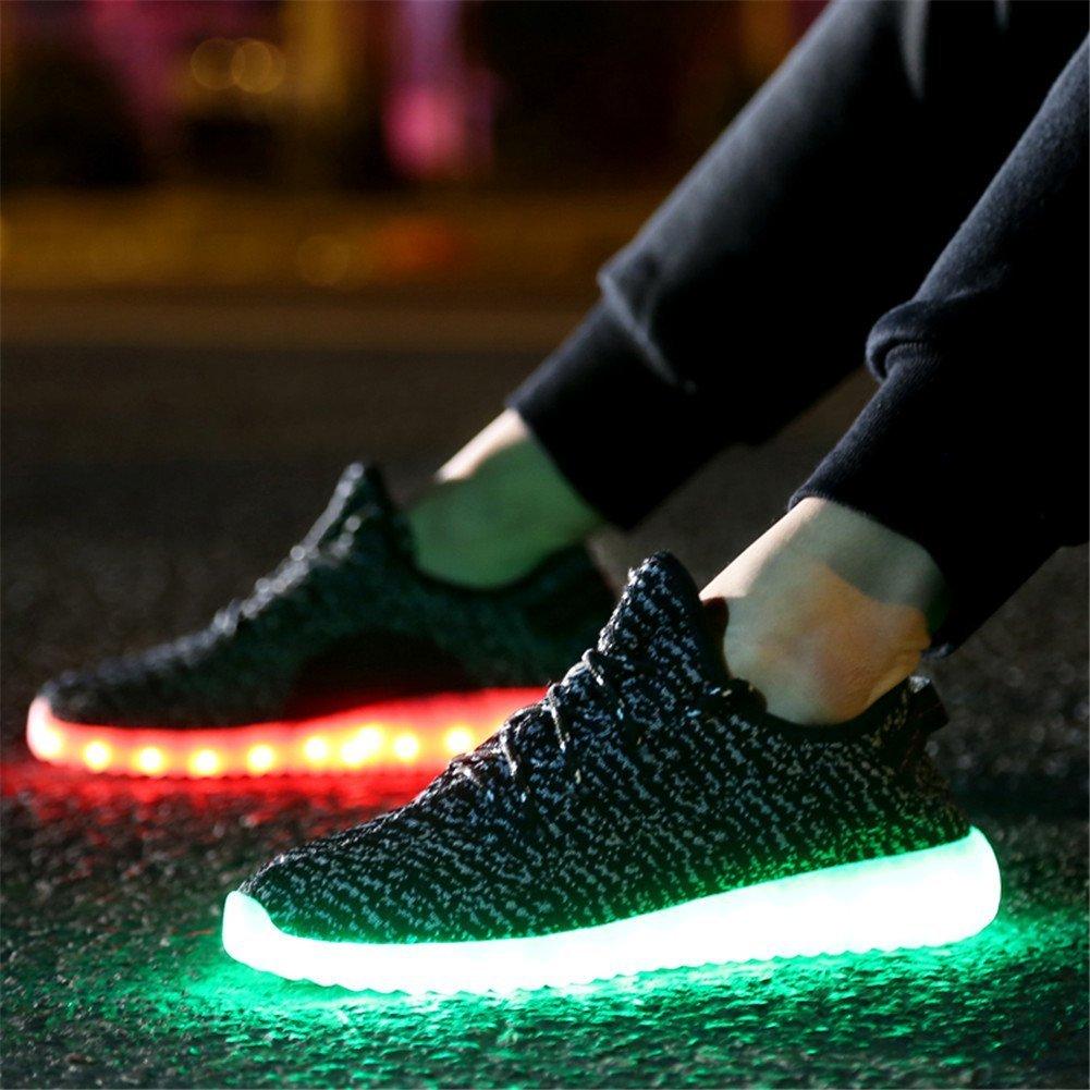 Aidonger Unisex Turnschuhe Licht Luminous ein paar, rot, grün, füsse, seitlich