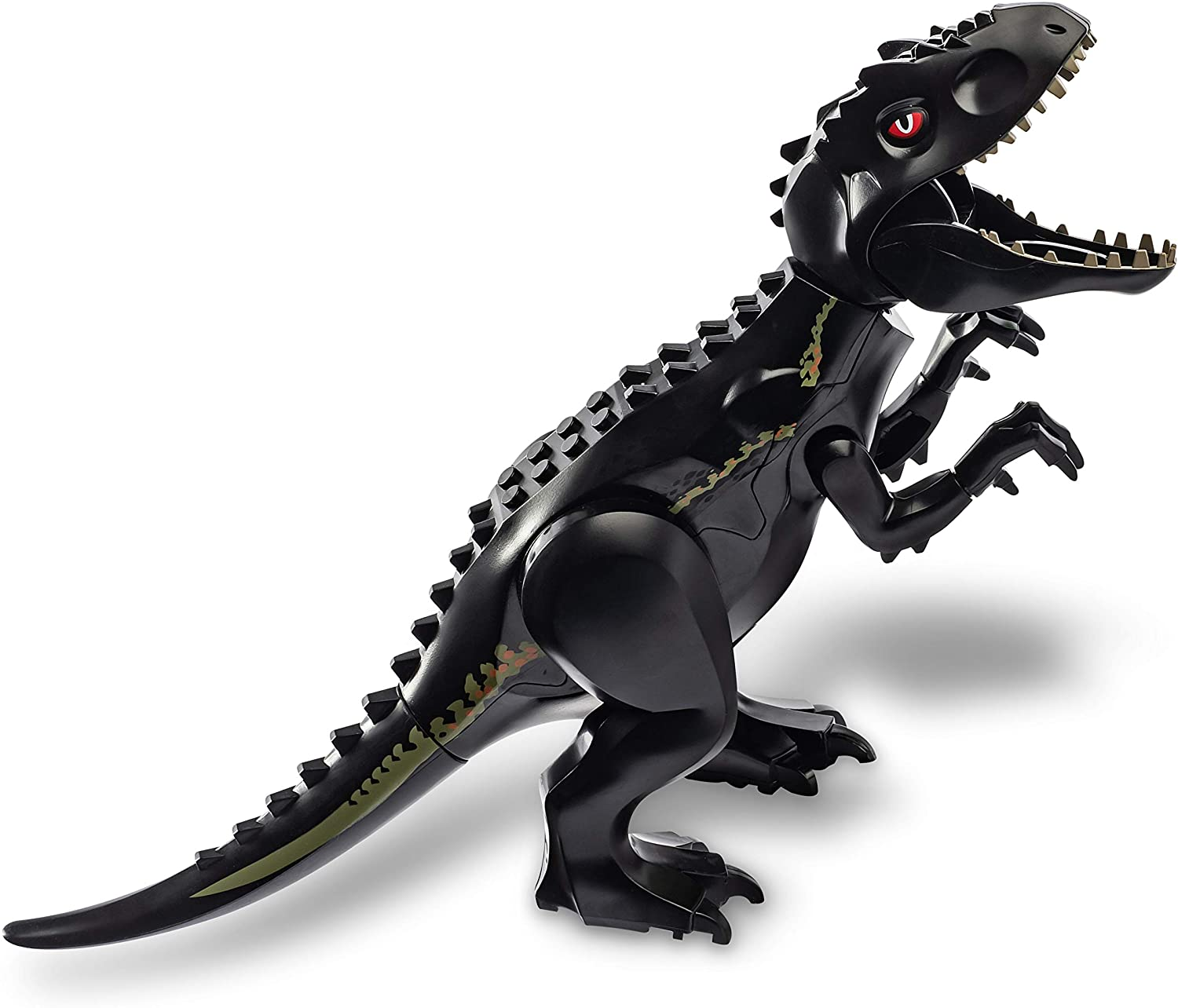 Baryonyx Indominus Rex LTCtoy 10pcs Dinos Toy Included 2 Large Size Buildable Dinosaur Building Block Figures with Movable Jaws