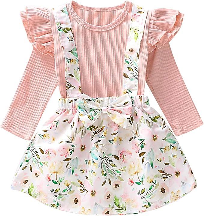 Borlai 1-6Y Conjunto de ropa de moda para niñas pequeñas, conjunto ...