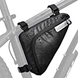 AUTOWT Bike Frame Bag, Bicycle Triangle Bag Front Tube Water Resistant Cycling Pack Strap-On Saddle Pouch Storage Bag…