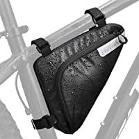 Bike Storage Frame Bag, Bicycle Front Tube Triangle Water Resistant Cycling Pack Strap On Saddle Pouch Bike Accessories…