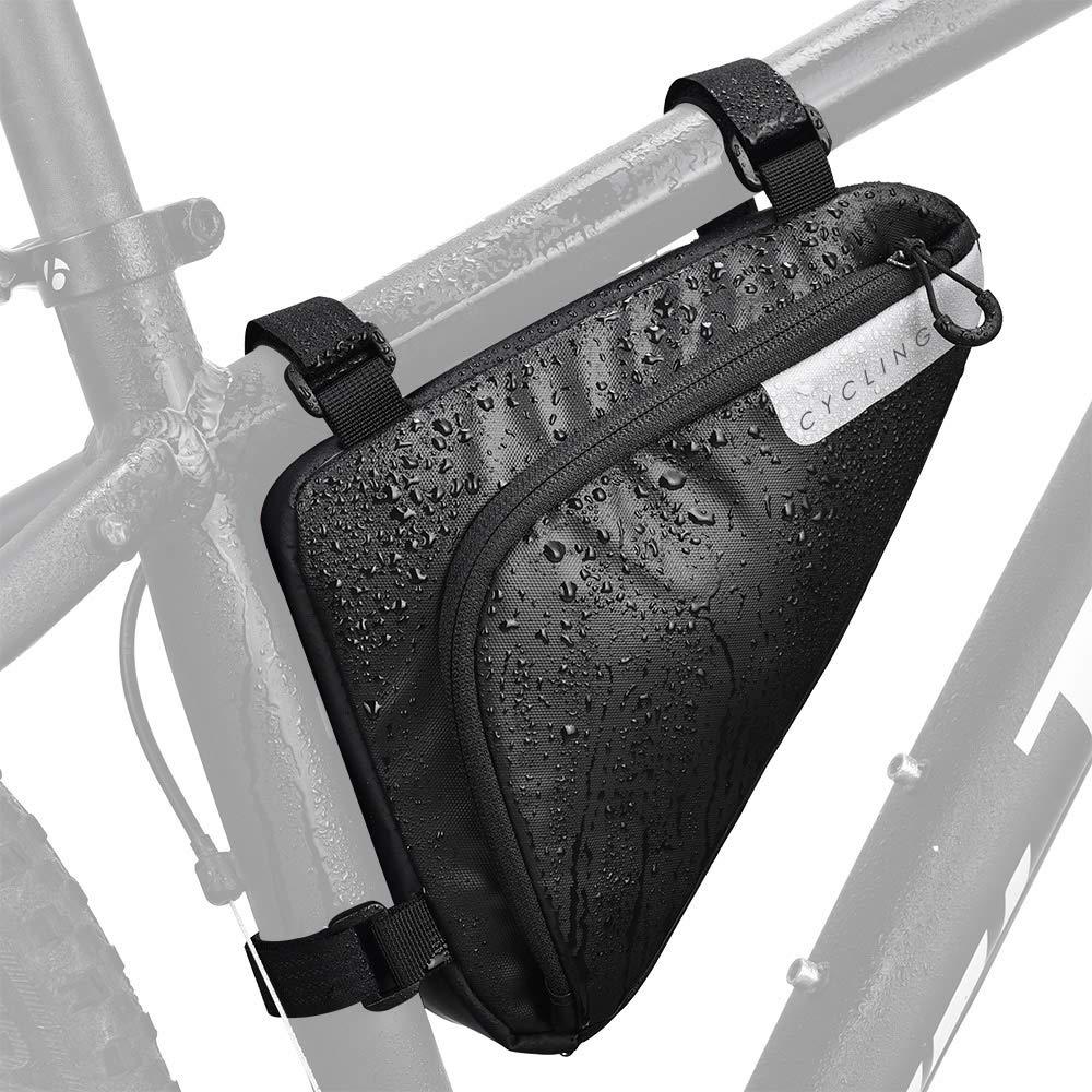 Mountain Bike Triangle Frame Bag Storage Waterproof Strap Saddle Pouch Road Race