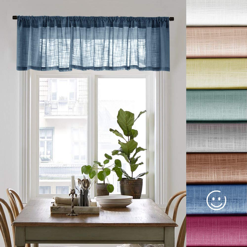 Sheer Curtain Valances for Bedroom