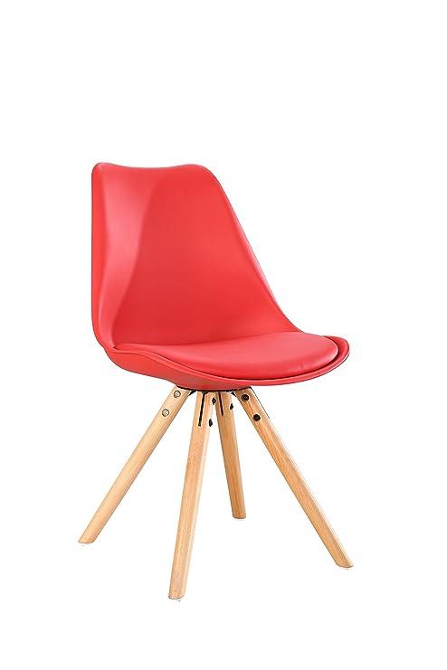 Aryana Home Pack de Sillas Nórdicas, Rojo, 58x46x81 cm, 2 Unidades ...