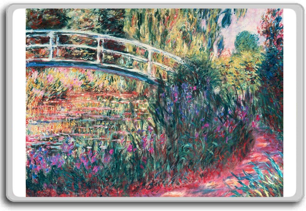Japanese Bridge & Lilies Pond By Monet classic art fridge magnet - Aimant de réfrigérateur Photosiotas