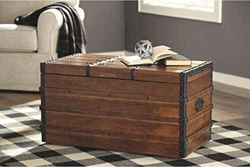 Signature Design by Ashley – Kettleby Storage Trunk – Rustic – Brown