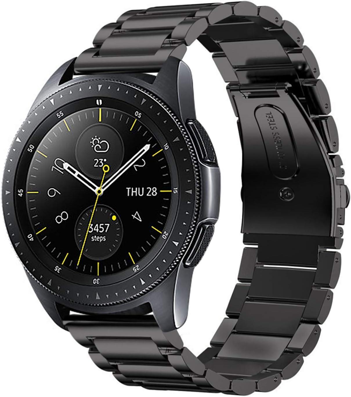 Galaxy Watch 46mm /Gear S3 Watch Band, Kuxiu Adjustable Stainless Steel Metal Wristband Strap Compatible for Samsung Galaxy Watch 46mm/Gear S3 ...