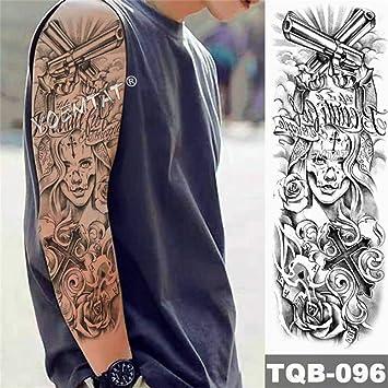 Big Arm Owl Sleeve Tattoo Angel Pink Cabeza de tatuaje impermeable ...