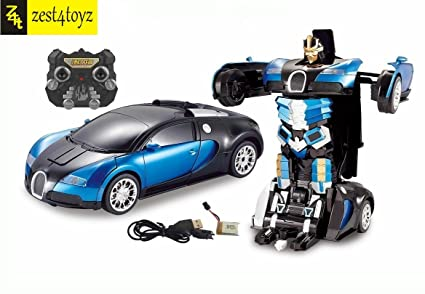 Zest 4 Toyz 1 14 Scale Remote Controlled One Button Car To Bugatti Style Transformer Multi Color
