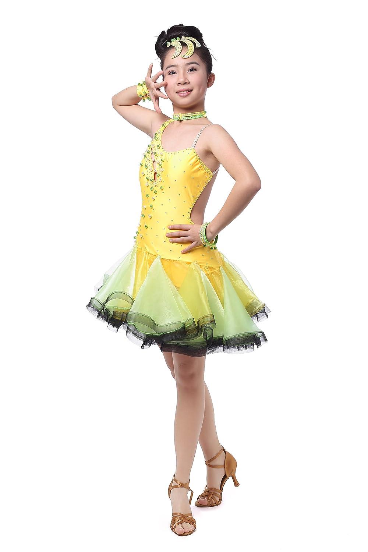 Colorfulworldstore Competition Ballroom Cha Cha Latin Salsa Ramba Samba Dance Dress for girls&lady
