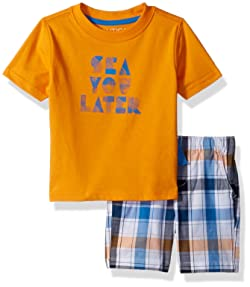 Nautica Baby Boys' Graphic Tee with Pull on Short Set