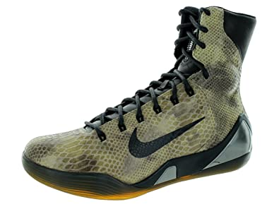 Nike Mens Kobe IX High Ext Qs Basketball Shoe-Black/Black-9